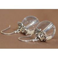 Kamena strela srebrni uhani