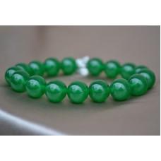 Zeleni žad raztegljiva zapestnica
