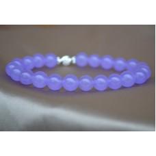 Svetlo vijolični žad raztegljiva zapestnica