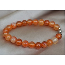 Karneol oranžni raztegljiva zapestnica