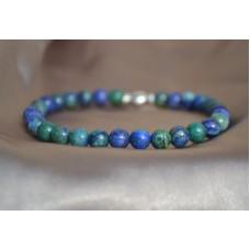 Azurit in lapis lazuli raztegljiva zapestnica