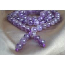 Ogrlica/zapestnica za meditacijo z 108 ametist kroglicami